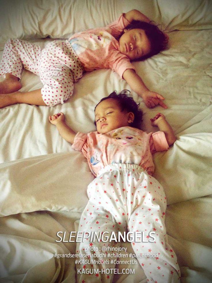 Mr. Alfrino Dian's LITTLE ANGELS sleeping at Grand Serela Setiabudhi Bandung #KAGUMHotels #ConnectUs