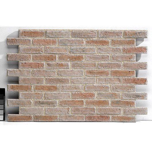 Leroymerlin plaquette de parement panespol cuenca en polyurethane beige 77 m2 murs pinterest - Leroy merlin plaquette de parement ...