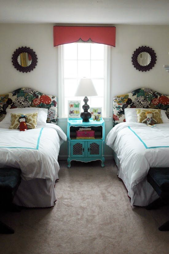 welcoming guest bedroom with twin beds