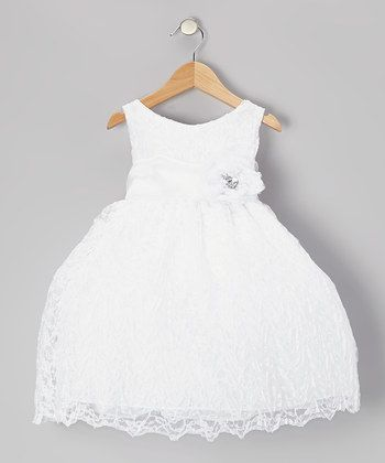 White Floral Embroidered Tier Dress - Infant, Toddler & Girls | Daily ...