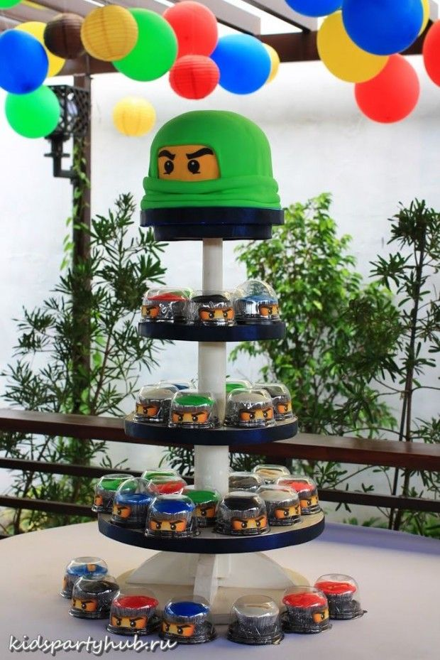 kidspartyhub.ru_детская вечеринка в бассейне на тему Лего-Ниндзя (10)