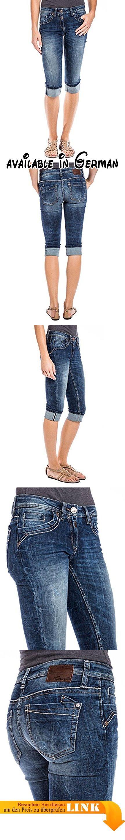 Timezone Damen Short TaliTZ, Gr. 42 (Herstellergröße: 32), Blau (blue patriot wash 3624). Capri-Hose aus Denim für Damen. 3/4 Jeans in mittelblau mit modischen Wascheffekten #Apparel #PANTS