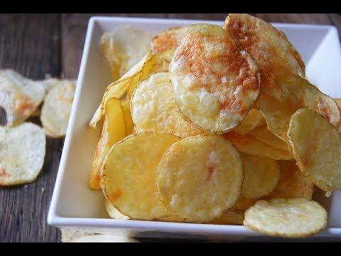 Patatas chips al microondas fáciles y crujientes - YouTube