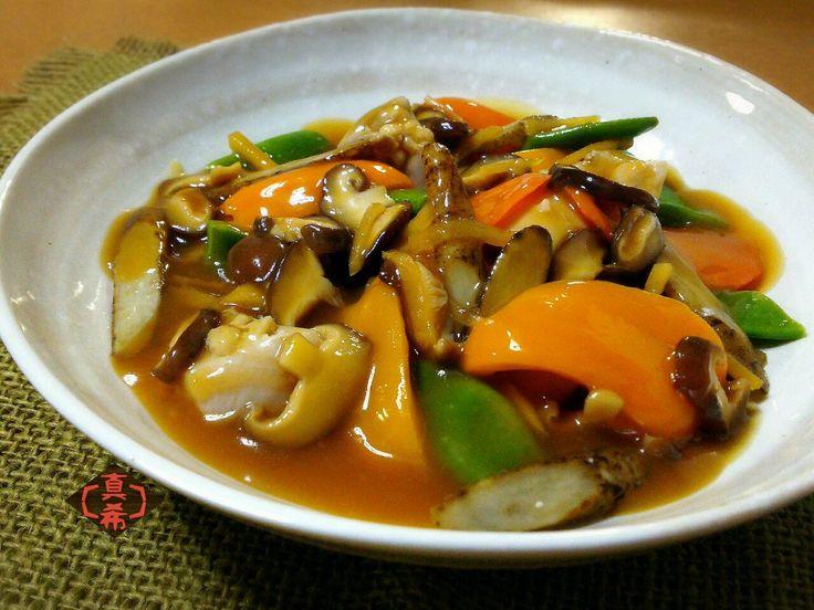 山本真希's dish photo ゆで鶏と野菜の生姜甘酢あんかけ | http://snapdish.co #SnapDish #レシピ #美容/ダイエット #簡単料理 #晩ご飯 #肉料理 #野菜料理