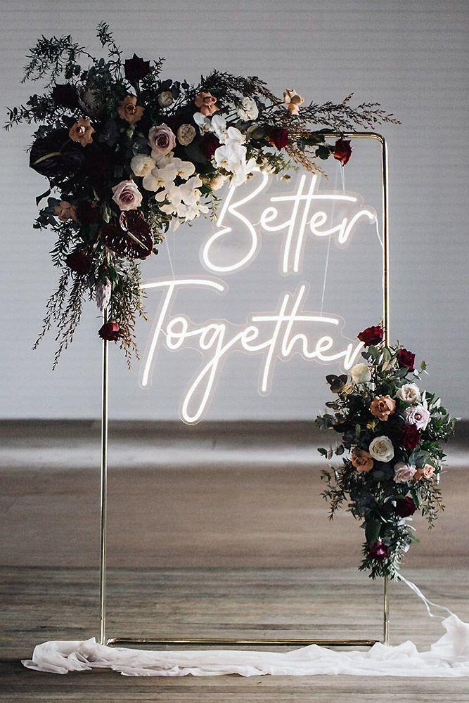 Wedding Trends 2021 Hottest Ideas For Colors Dresses Decor More Wedding Decorations Wedding Ceremony Backdrop Neon Wedding