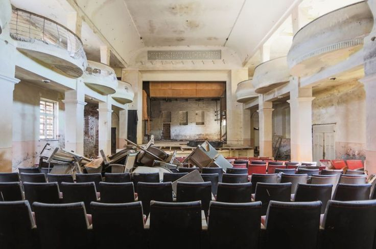 An abandoned theater in Bulgaria