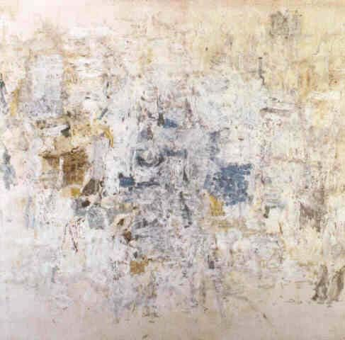 Rauschenberg White Painting With Numbers