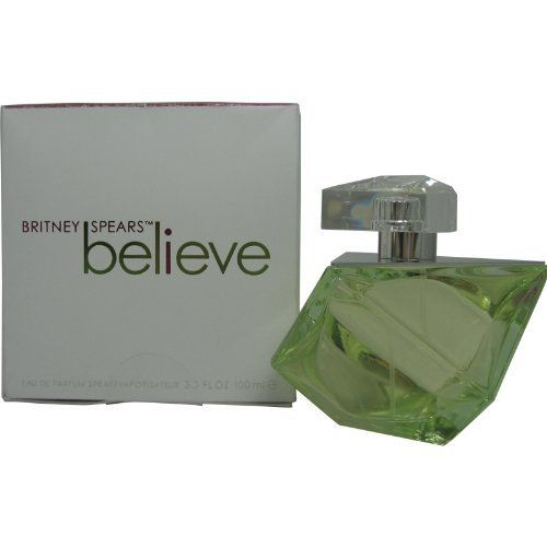 Britney Spears Believe By Britney Spears For Women. Eau De Parfum Spray , 3.4-Ounce Bottle by Britney Spears. $26.99. Packaging for this product may vary from that shown in the image above. This item is not for sale in Catalina Island. Believe Perfume Eau De Parfum Spray 3.3 Oz / 100 Ml for Women by Britney Spears.