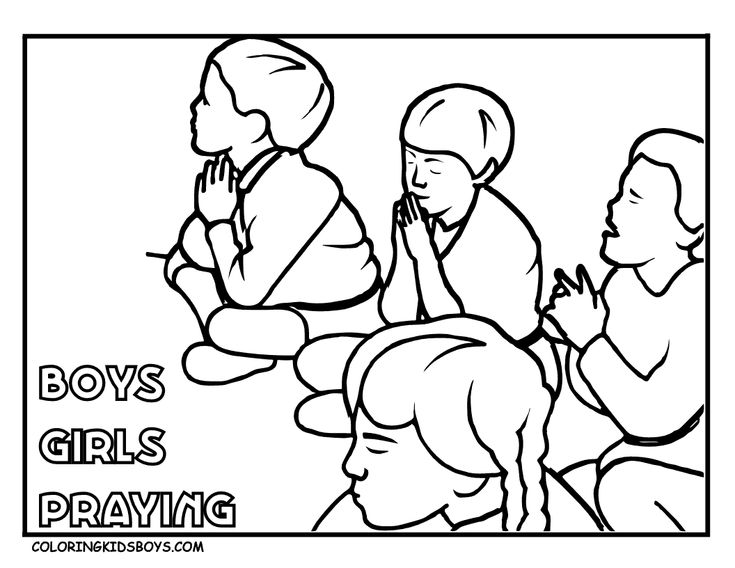 children praying coloring page pages pictures imagixs ...