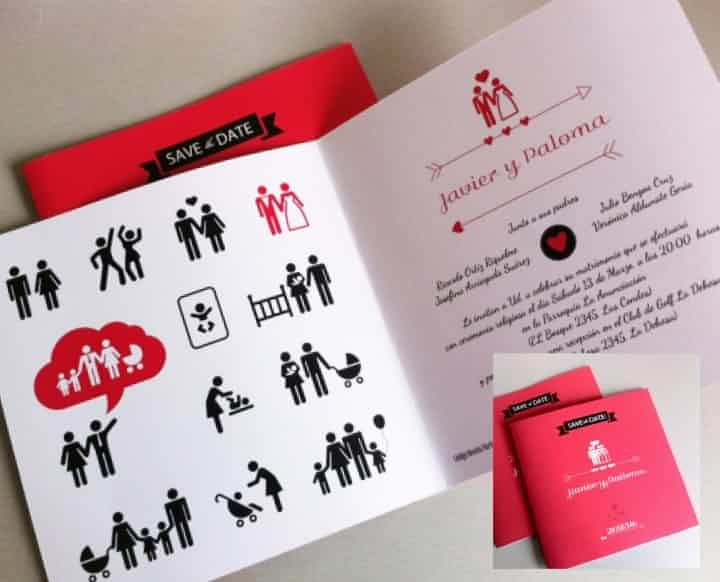 propuestas originales para los partes de matrimonio