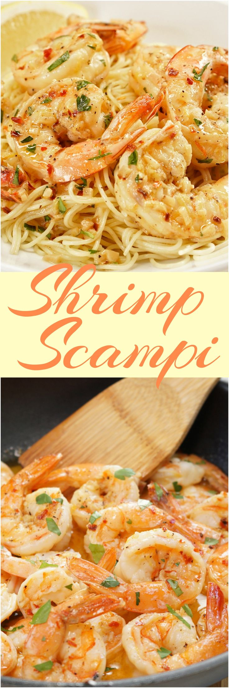 Plump shrimp sautéed in a rich & buttery, bright & lemony, herb & garlicky white wine scampi sauce, and tossed with linguine pasta. In just 30 minutes!