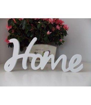 Napis biały 3 d na ścianę HOME