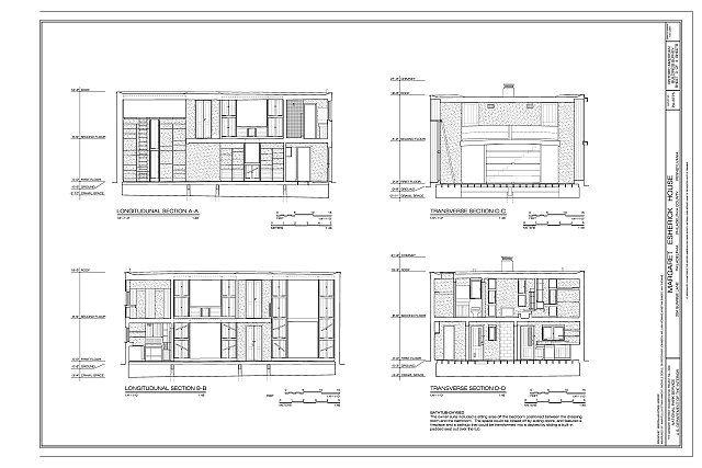 Sections Margaret Esherick House 204 Sunrise Lane