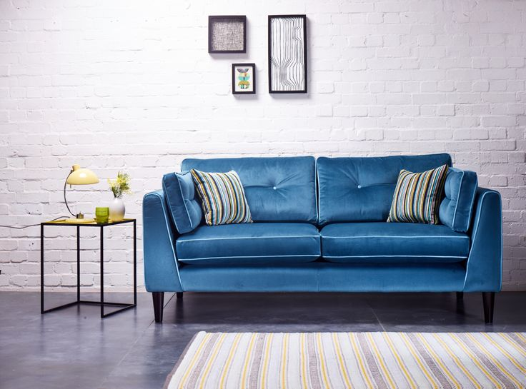 In Beautiful Jewel Tones And Plush Velvet Fabrics The Retro Design Of The Cricket Sofa Is