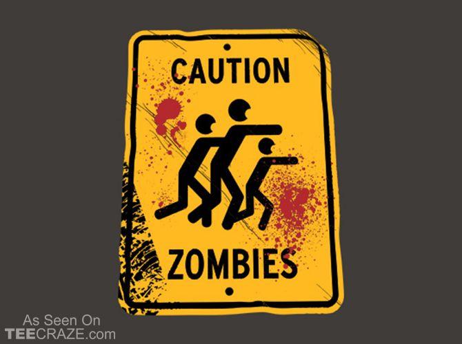 Caution Zombies T-Shirt - https://teecraze.com/caution-zombies-t-shirt/ -  Designed by Snorg Tees   You May Also Like                          Save the Trash Pandas T-Shirt                                       Smash Force T-Shirt