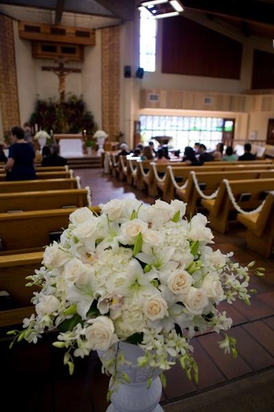 church ceremony decor