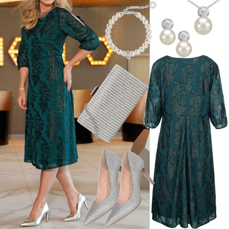 Große Größen Kleid MIAMODA Grün für Damen zum…