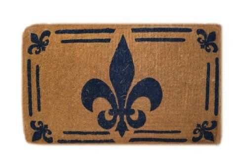 Imports Decor Printed Coir Doormat, Fleur De Lis, 30-Inch by 48-Inch by Imports Décor. $81.68. Printed with weather resistant colors. Measures 30-inch by 48-inch by 1-1/2-inch. Ideal for moderate to heavy-use traffic areas. Handwoven with 100-percent coir fibre. Durable, waterproof and superior scubbing power. Enhance the entrance of your home with this high quality, hand-tufted coir doormat from Imports Decor. Handwoven from the best quality coir, and printed w...