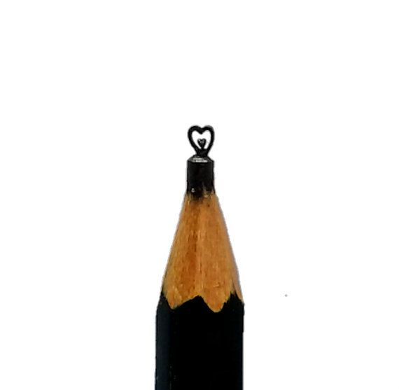 Made to order heart pencil tip carving lead