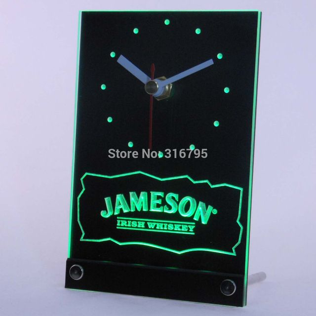 Promotion price tnc0119 Jameson Irish Whiskey 3D LED Table Desk Clock just only $14.49 with free shipping worldwide  #clocks Plese click on picture to see our special price for you