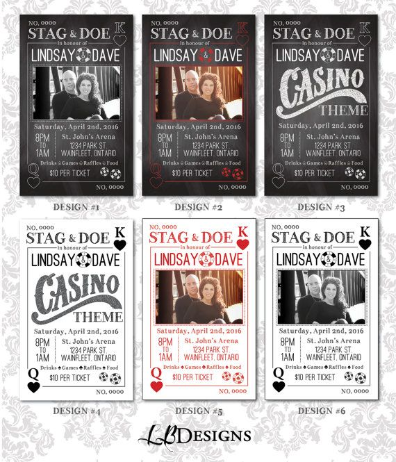 Stag and Doe Tickets  Playing Cards/Casino by LindsayBrownDesigns