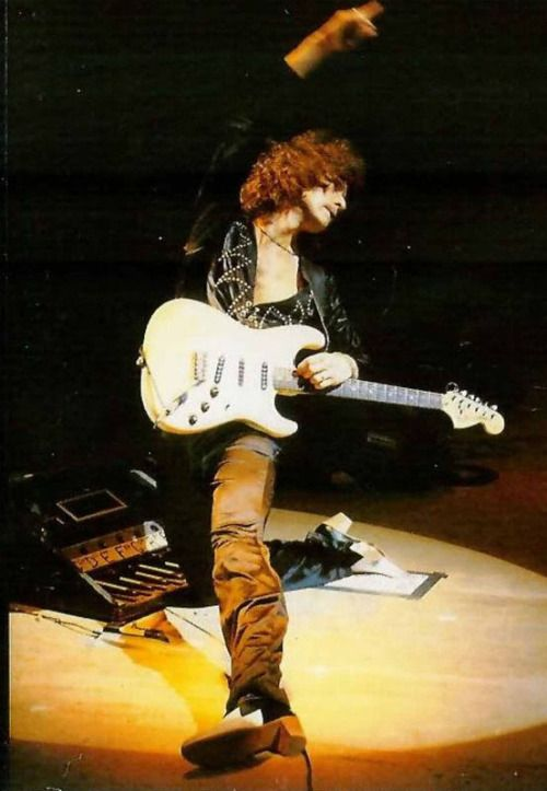 Ritchie Blackmore: It has always sounded like he is an absolute egomaniac, but that didn't diminish his abilities! He created some great music with Deep Purple and in his own band Rainbow.