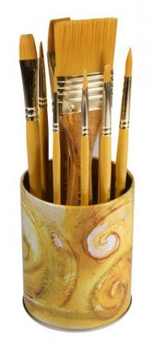 Art Shed Online - Daler Rowney Simply Gold Acrylic Brush Set Pot 10pc, $24.95 (http://www.artshedonline.com.au/daler-rowney-simply-gold-acrylic-brush-set-pot-10pc/)