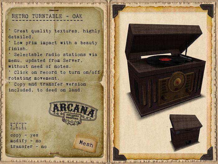 {A} Retro Turntable - Oak