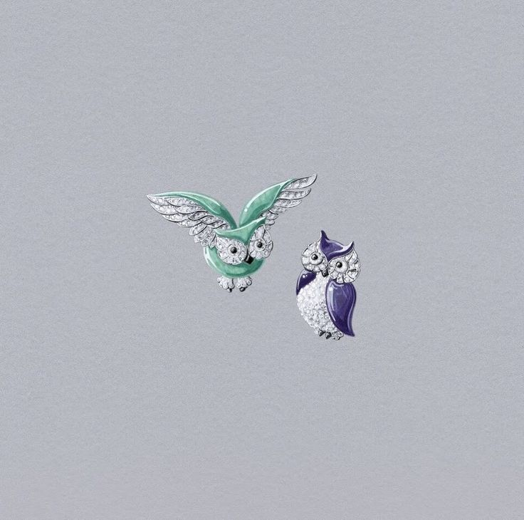 VCA. #VanCleef&Arpels #VCA #Noah'sArk #ArchedeNoé #Brooch #Broche #Animals #Animaux #Hiboux #Owl #HighJewellery #FineJewelry #Gouaché #JewelryDesign