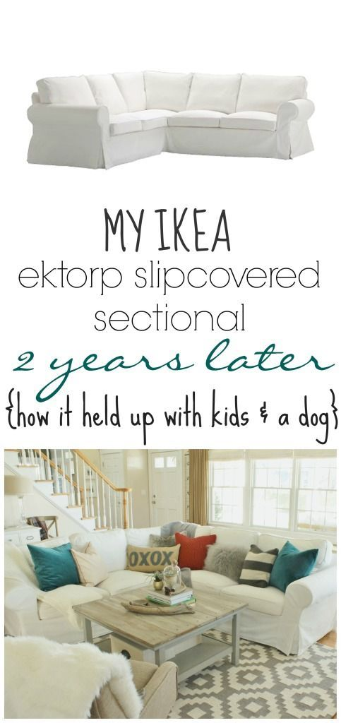My Ikea Ektrop Sectional 2 years Later-How it held up with kids & a dog
