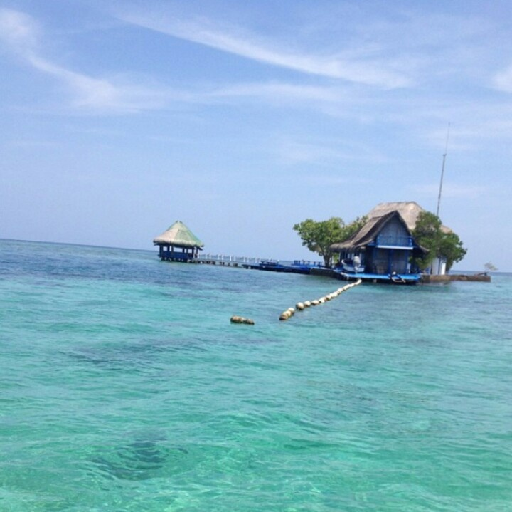 Cartagena. Colombia....crystal clear water in the Rosario Islands. 45 min away from Cartagena's  downtown by speed boat.