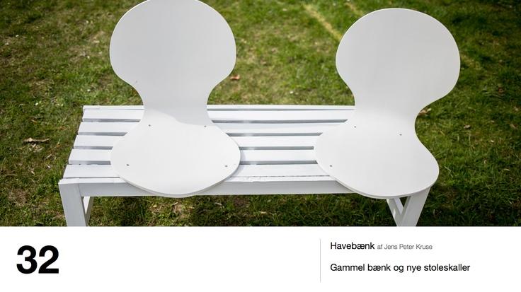 Havebænk af Jens Peter Kruse - Gammel bænk og nye stoleskaller