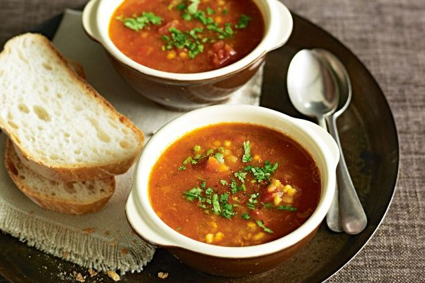 Indian spiced red lentil soup main image
