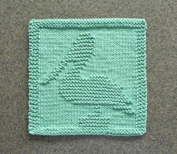 PELICAN Knit Dishcloth or Wash Cloth Hand von AuntSusansCloset                                                                                                                                                                                 Mehr