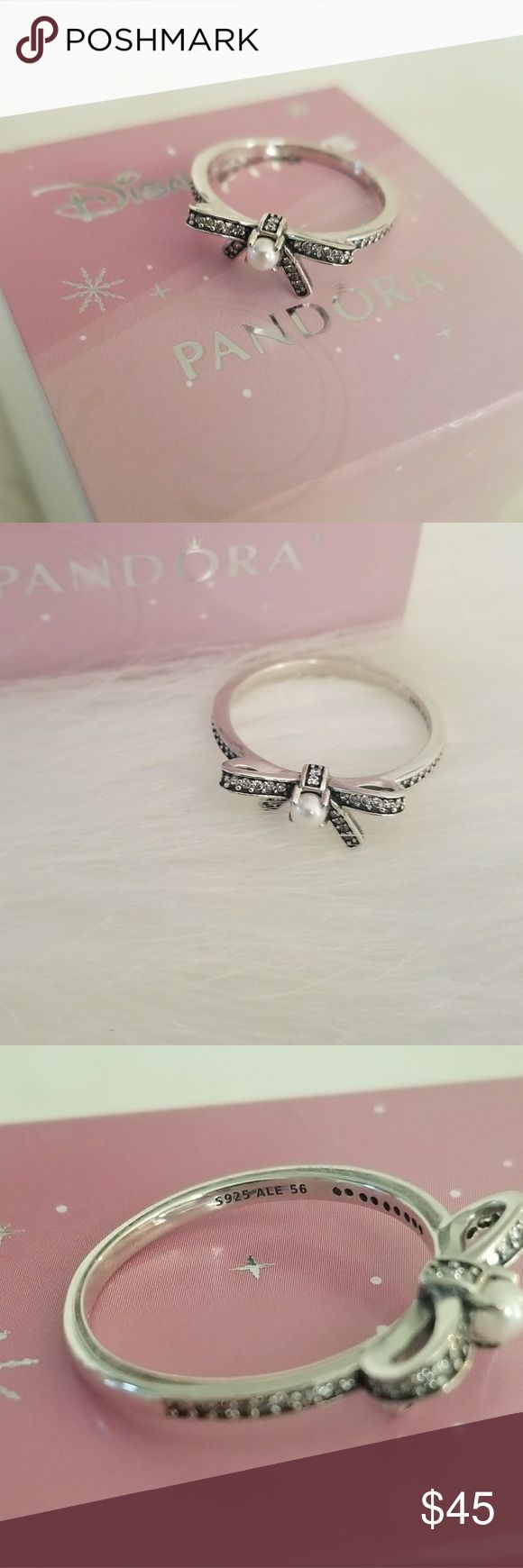 Pandora pearl ring New pandora pearl ring  Size 8 Comes with dust bag  Box not included Pandora Jewelry Rings