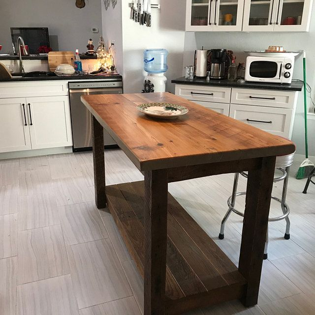 Storage Cabinet Or Linen Cabinet Made Of Reclaimed Barnwood Etsy In 2020 Rustic Kitchen Island Wood Kitchen Island Rustic Kitchen