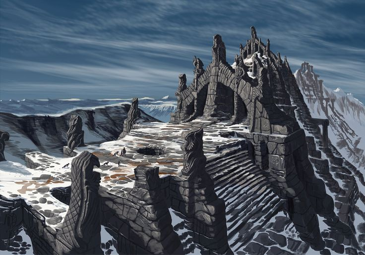 The Elder Scrolls V: Skyrim Art & Pictures,  Nordic Temple Ruins