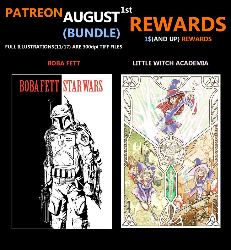 Patreon Rwards for the month of August ;)
