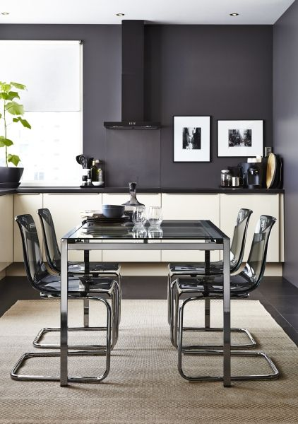 Translucent dining furniture can make your dining space feel more airy and sleek.