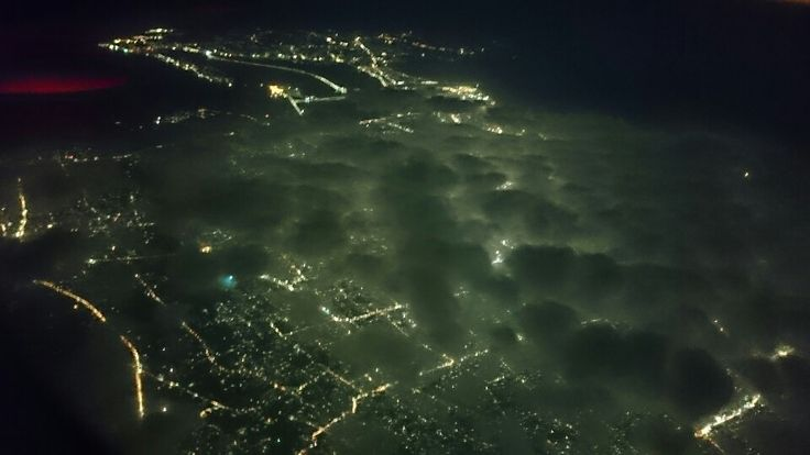 Night view from plane