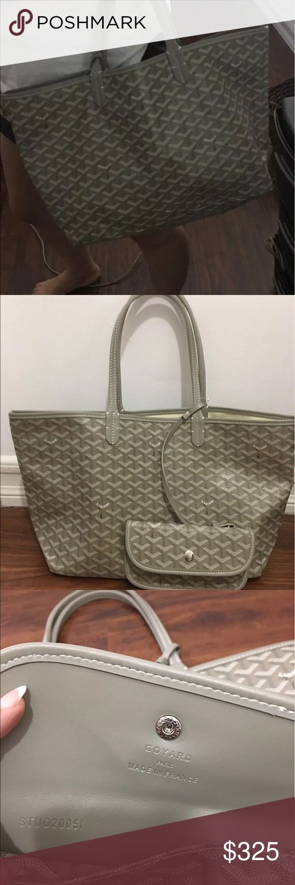 Bag Gorgeous inspired by top designer. New with dust bag. Purchase online and changed my Mind cuz I bought something else. Leather strap. Identical to Goyard Bags Shoulder Bags