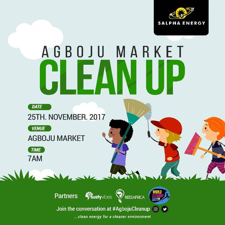 About 25 hours to #AgbojuCleanUp; it's important we don't lose sight of our agenda:  a). We #cleanup the market.  b). We #educate people on proper #sanitation.  c). Promote #cleanenergy.  d). Make them understand the rudiments of #sustainableliving and preach #sustainability.  We definitely can't wait can you?  #SDGS #sdgs2030 #cleanenvironment #environmental #agbojucleanup #festac #lagos #africa