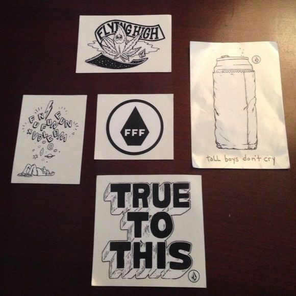 FFF Fest/Volcom Austin EXCLUSIVE stickers Stickers are exclusive originals. Only distributed at the 2014 FFF Fest in Austin. Other