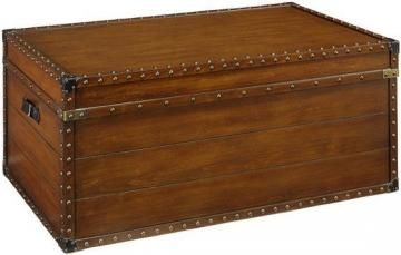 "37""W Steamer Trunk Coffee Table"
