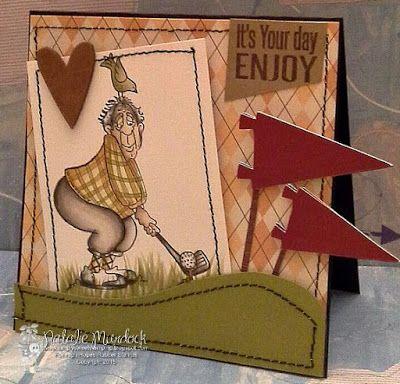 High Hopes Stamps: Old School Golfer by Natalie using Golfer Glen (T084) & Sentiment Set #1 (U500)