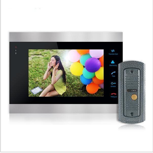 Homefong Kopen Monitor Krijgen Deurbel 7 Inch Kleur LCD Video Deurtelefoon Intercom Systeem Deur Release Unlock Deurbel Camera Gratis