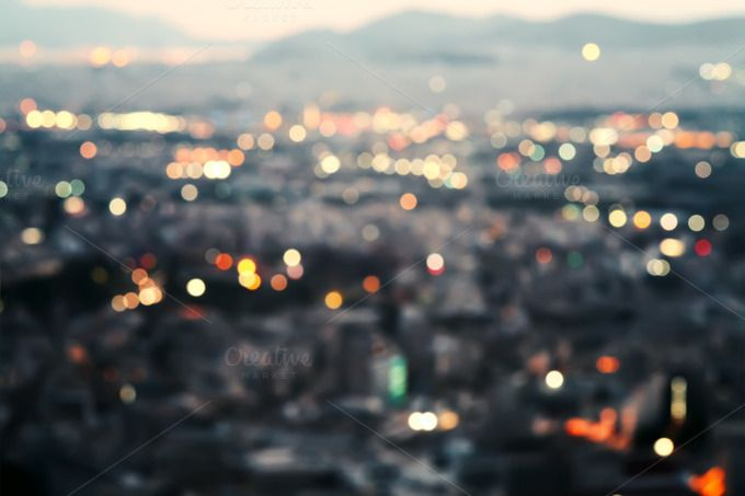 City lights. by EkaterinaPlanina on @creativemarket