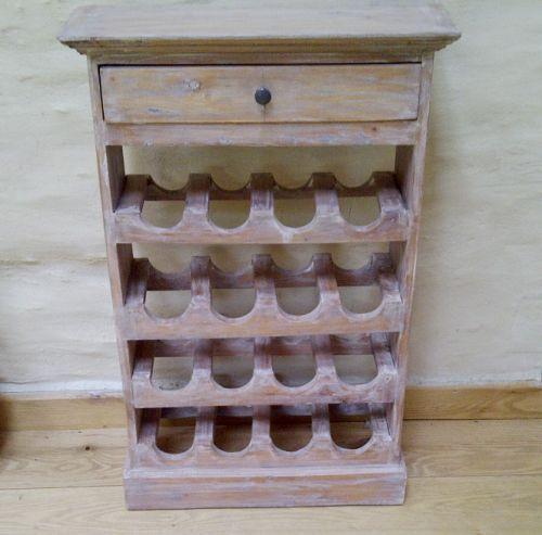 Pallet Wine Unit Shelf Wood Rustic White Wash Large 16 Bottle Rack Pallets Racks