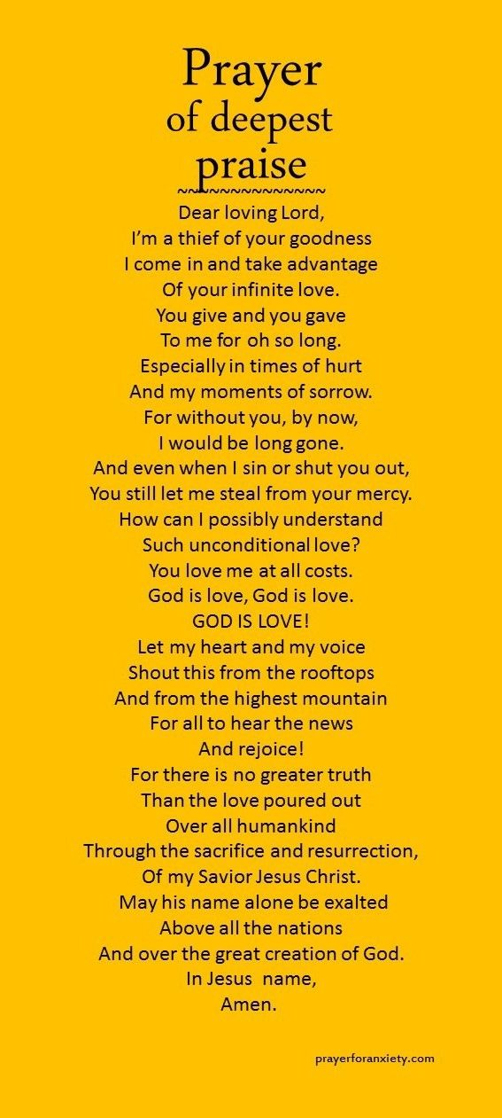 This is how the Spirit lives in you and transforms you... through the heartfelt praise of God.