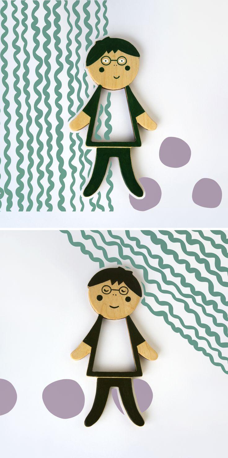 Mitya. Telepapu wooden doll